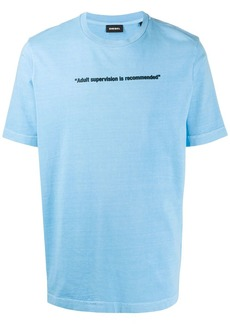 Diesel T-JUST-NEON slogan print T-shirt