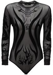 Diesel T-noelay Flocjd Mesh Bodysuit