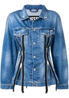 Diesel tailored zipped denim jacket