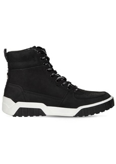 Diesel Tapered Washed Leather High Top Sneakers