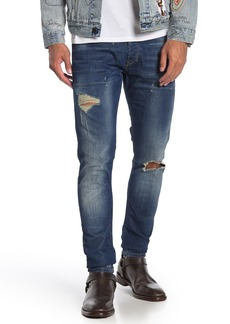 Diesel Tepphar Distressed Slim Jeans