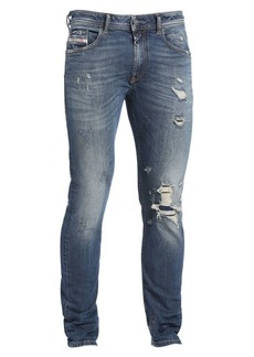 Diesel Thommer Low-Rise Slim-Fit Distressed Drop Pin Jeans