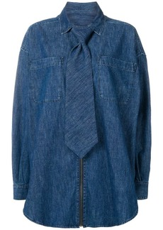 Diesel tie detail denim shirt