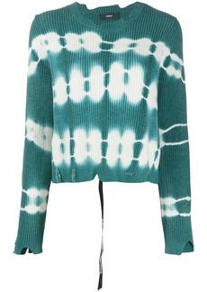 Diesel tie-dye fine-knit jumper