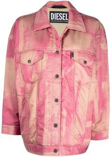 Diesel tie dye oversized trucker jacket