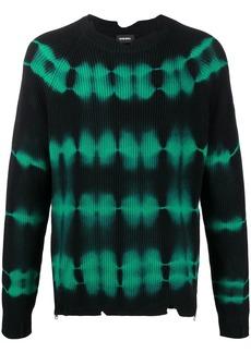 Diesel tie-dye pullover jumper