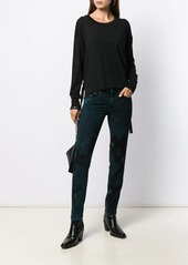 Diesel tie-dye skinny jeans