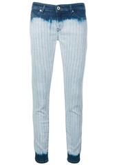 Diesel tie-dye striped skinny jeans