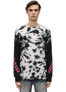 Diesel Tie Dyed L/s Cotton Jersey T-shirt