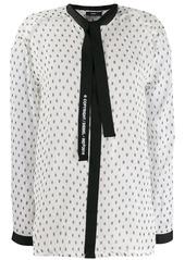 Diesel tie-front blouse