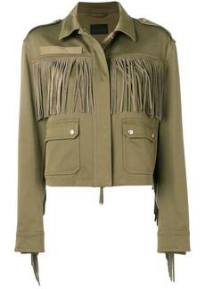 Diesel tonal fringed jacket