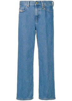 Diesel treated wide leg jeans