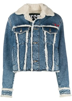 Diesel trimmed denim trucker jacket