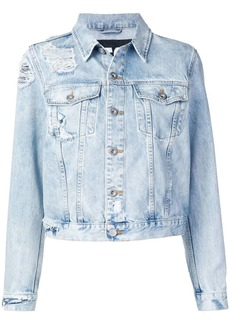 Diesel Trucker jacket in bleached denim