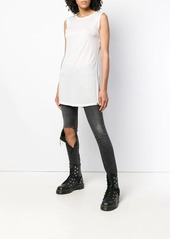Diesel tunic length sleeveless T-shirt