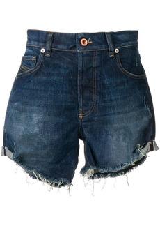 Diesel turn-up midi shorts