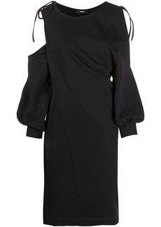 Diesel twist-draped cold-shoulder dress