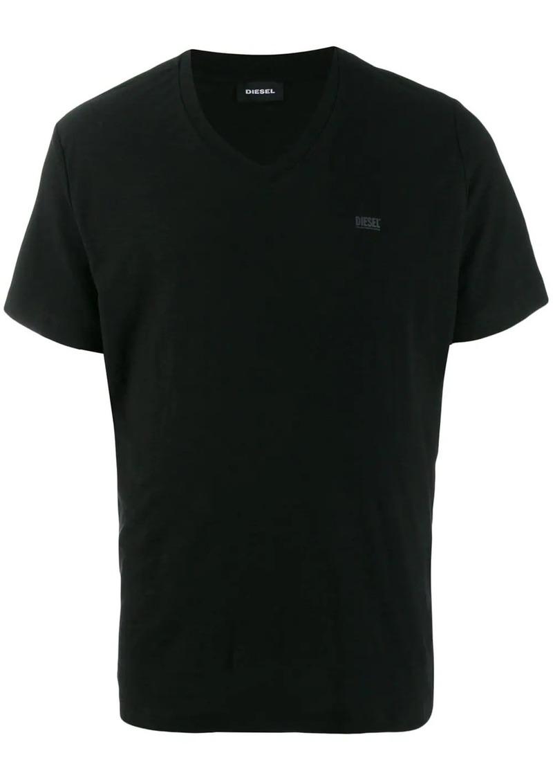 Diesel v-neck logo T-shirt