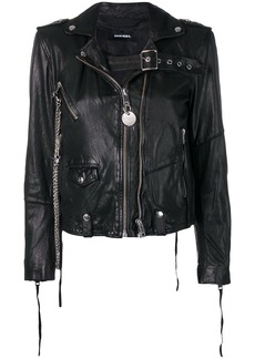 Diesel washed biker jacket