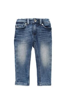 Diesel Washed Cotton Denim Effect Jeans
