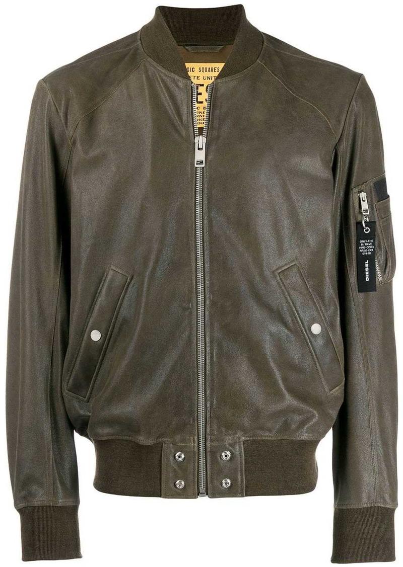 Diesel waxed suede bomber jacket