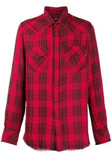 Diesel western check print shirt