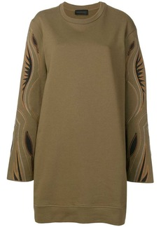 Diesel western embroidered jumper dress