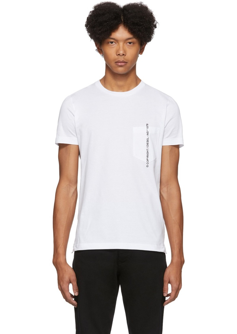 Diesel White Rubin-Pocket-J1 T-Shirt
