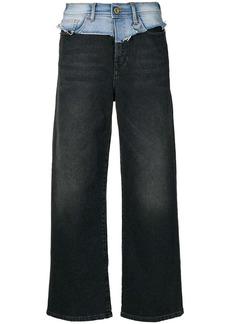 Diesel wide cropped jeans