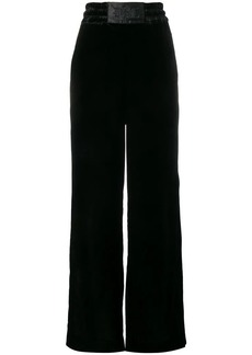 Diesel wide-leg velvet trousers