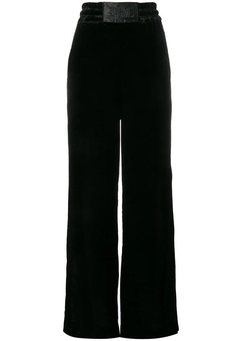 Diesel wide-leg velvet trousers