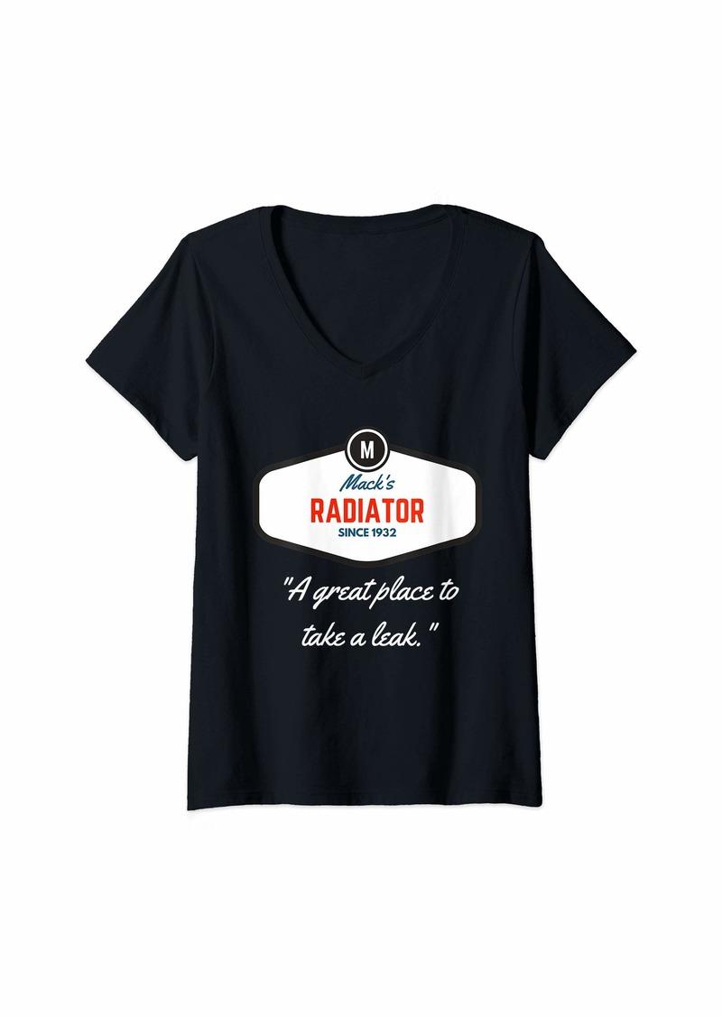 Diesel Womens Hot Rod Route 66 Vintage Mechanic Car Lover  V-Neck T-Shirt