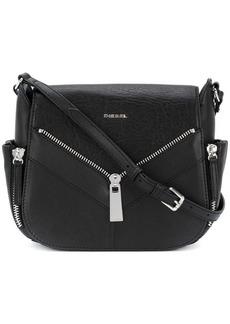 Diesel zip applique satchel