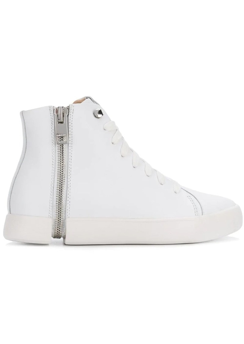 Diesel zip detail hi-top sneakers