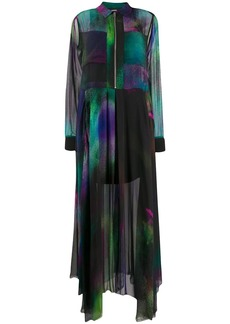 Diesel zip detail maxi dress