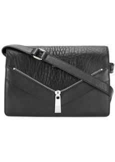 Diesel zip detail shoulder bag