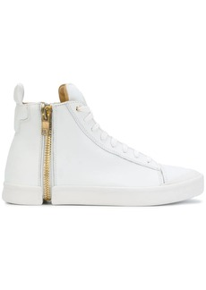 Diesel zip detail sneakers