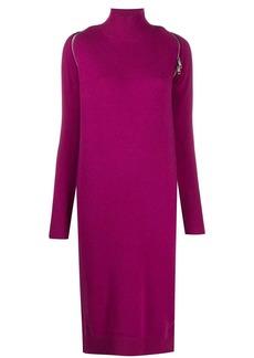 Diesel zip reveal roll neck knit dress