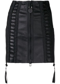 Diesel zipped short skirt