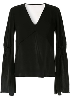 Dion Lee ruffle sleeve layered blouse
