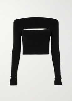 Dion Lee Convertible Stretch-jersey Top