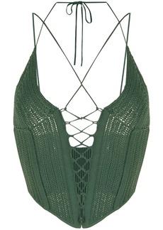 Dion Lee knitted halterneck top