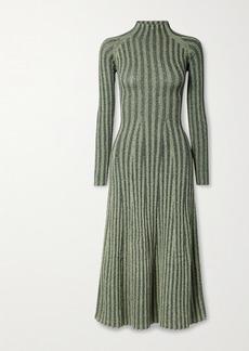 Dion Lee Cutout Ribbed Cotton-blend Midi Dress