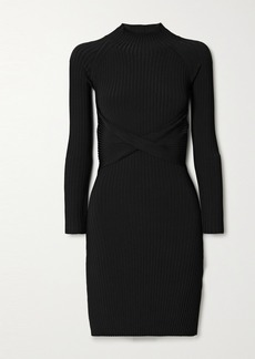 Dion Lee Cutout Twist-front Ribbed-knit Mini Dress
