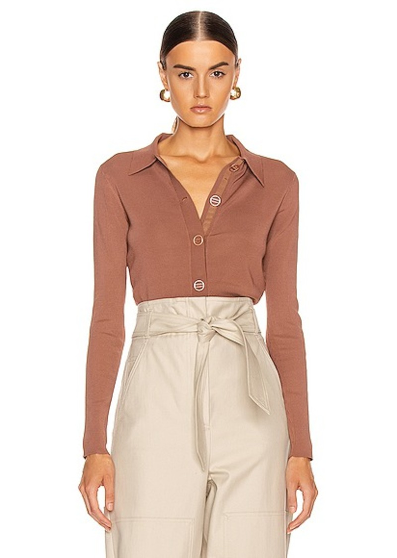 Dion Lee Density Cropped Cardigan Top