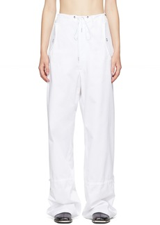 Dion Lee White Eyelet Tie Parachute Trousers