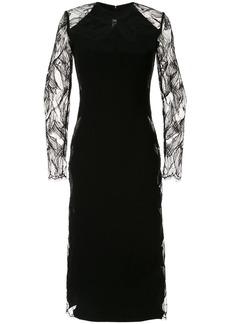 Dion Lee floral lace midi dress
