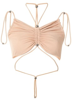 Dion Lee gathered butterfly crop top