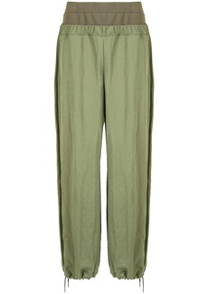 Dion Lee layered drawstring-ankle trousers