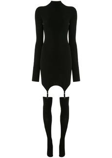 Dion Lee long sleeve garter mini dress
